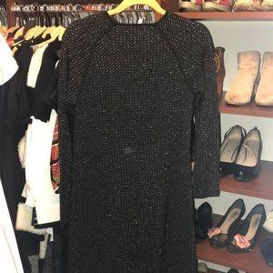 Zara Dresses - Black and Gold Zara Knit Dress-Med